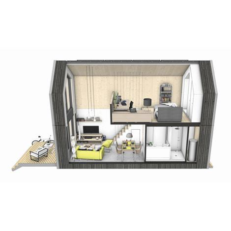 Heijmans one het verplaatsbare woonhuis voor eenpersoons for Verplaatsbaar huis